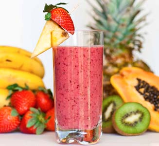 a delicious berry smoothie